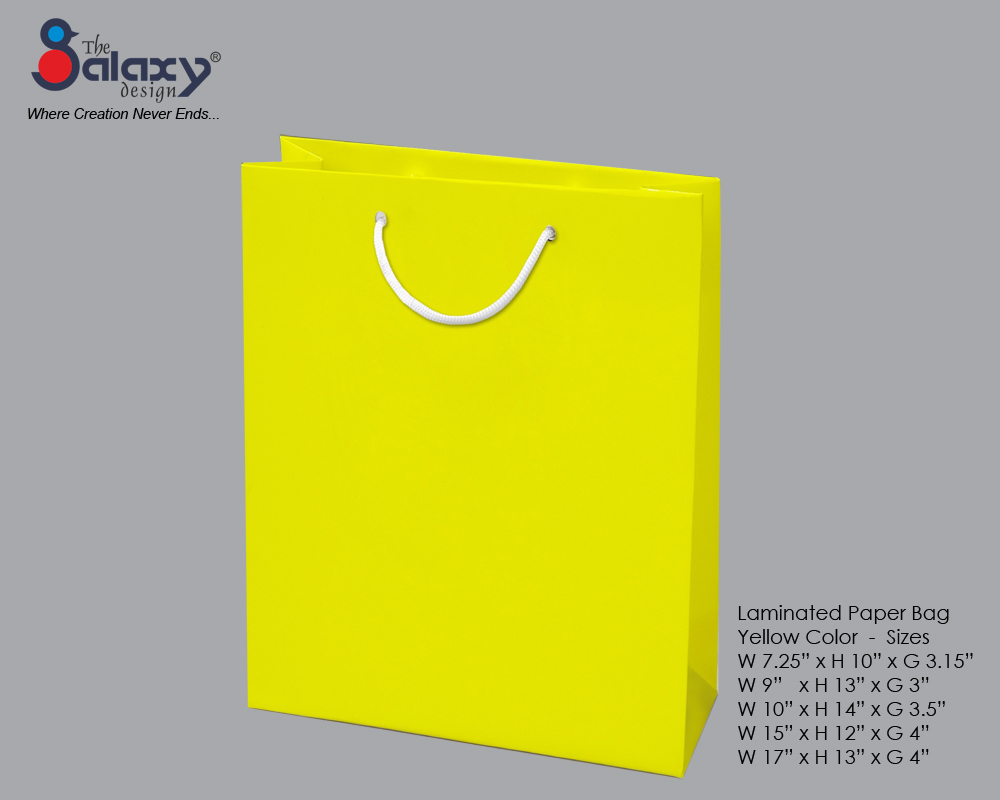 Paper bag yellow - Laminated Paper Bag