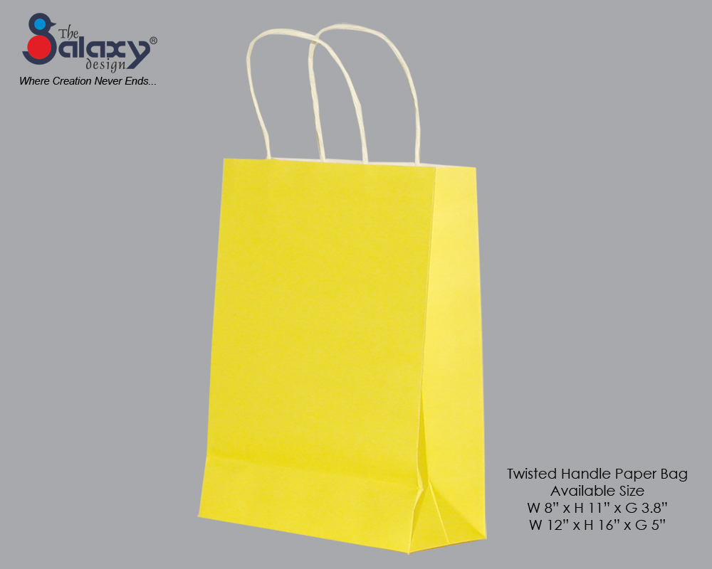 Paper bag yellow - Twisted Handle Bag